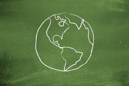 sustentabilidad: Tierra en la pizarra