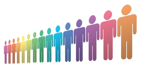 Rainbow people Stock Photo - 8535495