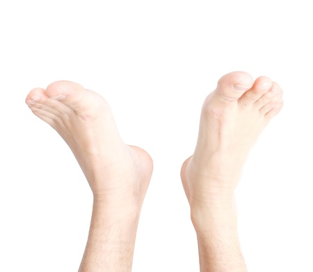 bare feet toes: Male feet Stock Photo