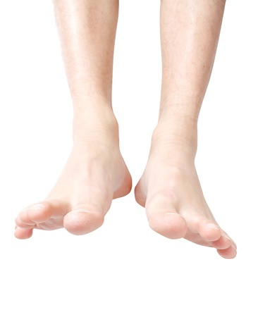 foot care: Male feet Stock Photo