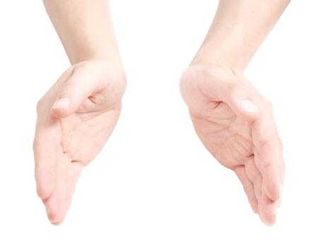 mains ouvertes: Mains ouvertes Banque d'images