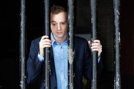 Businessman in jail Stock Photo - 8684412