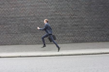 haste: Business man running