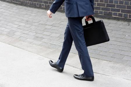 hurrying: Business man running