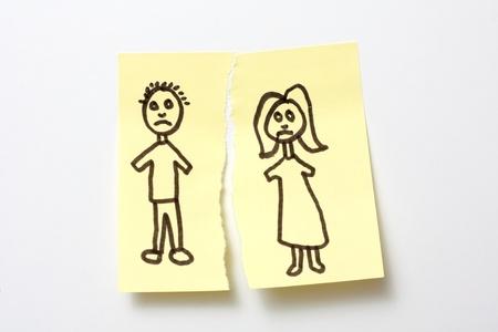 splitting up: Divorce