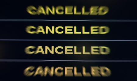 disruption: Cancelled Stock Photo
