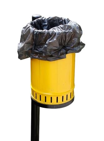 trash bin: Garbage bin Stock Photo