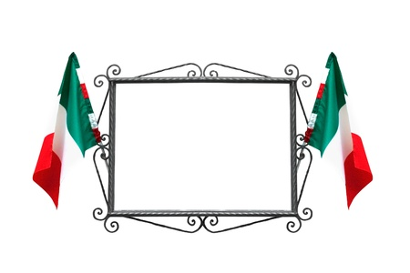 Italian frame with flags photo