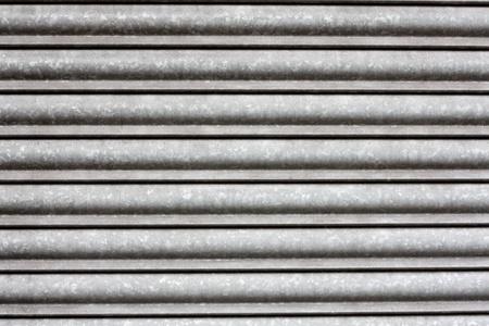 iron curtains: Metallic shutters
