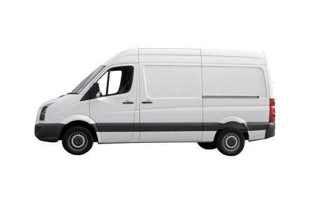 motor de carro: Furgoneta blanca