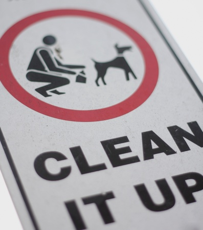 pick: No dog poop sign Stock Photo