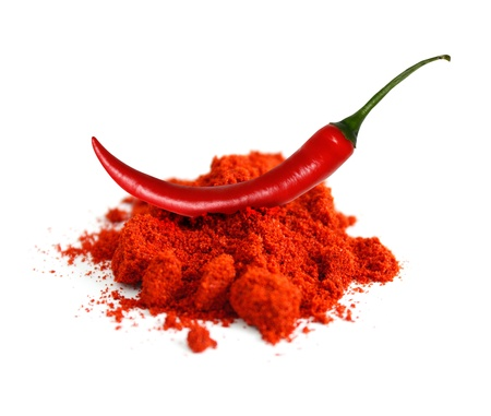 chilli: Chili powder Stock Photo
