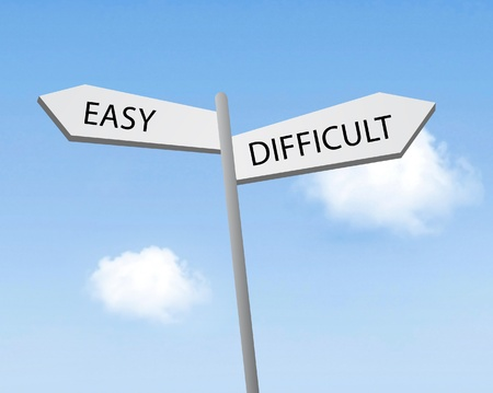 easy way: Easy or difficult