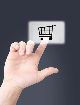 agregar: Las compras en l�nea Foto de archivo