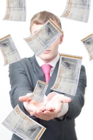 tomar prestado: El pr�stamo de dinero Foto de archivo