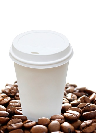 take away: Coffee to go Stock Photo
