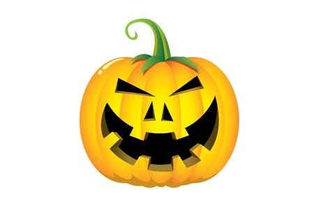 Pumpkin cartoon isolated on white Vector