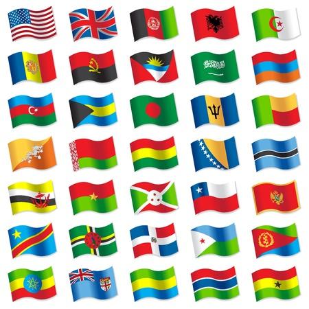 bandera de chile: Banderas del mundo 2 Vectores