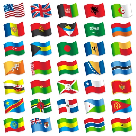 Flags of the world 2 Vector