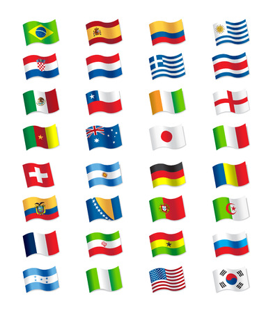 Flags 2014 Brazil Vector