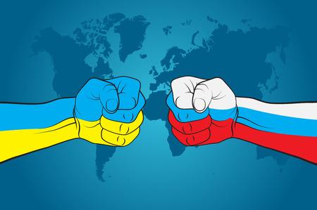 Ukraine versus Russia Illustration