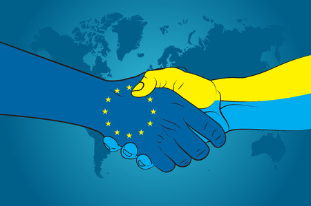 eu: Handshake EU and Ukraine