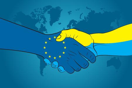 Handshake EU and Ukraine