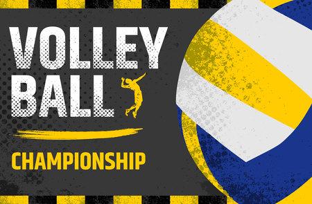 Volleyball grunge Illustration