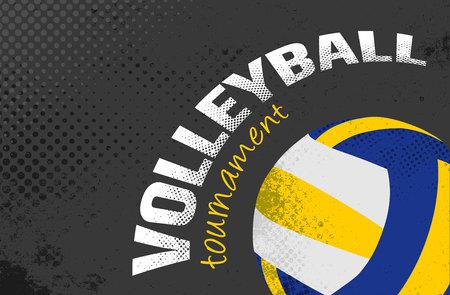Volleyball grunge vector illustration. Illustration