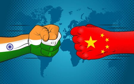 Conflict between India and China. India-China relations. India versus China.