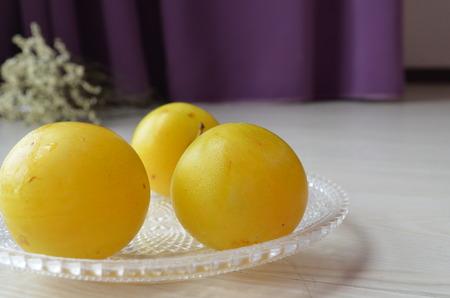 bourgeoisie: Yellow plums Stock Photo
