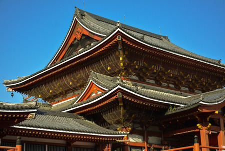 japanese temple: Japanese temple and blue sky