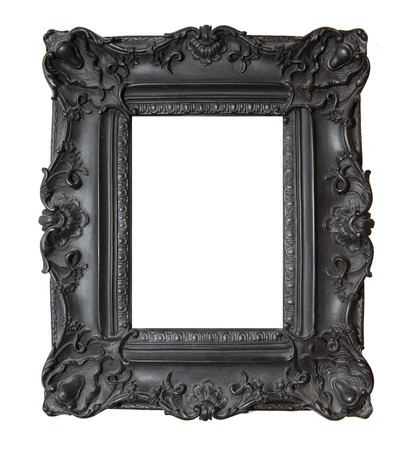 Black Gothic Picture Frame on a White
