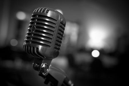 Retro Jazz Microphone Stock Photo - 27582605