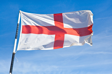 St Georges Flag Blowing in the Wind