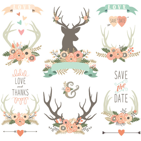 collections: Wedding Floral Antlers Collections
