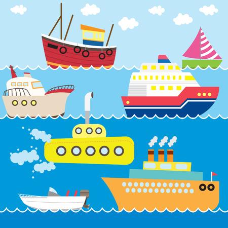 passenger transportation: Transportation Set Illustration