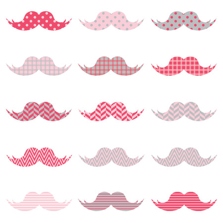bonding: Cute Pink Mustaches pattern