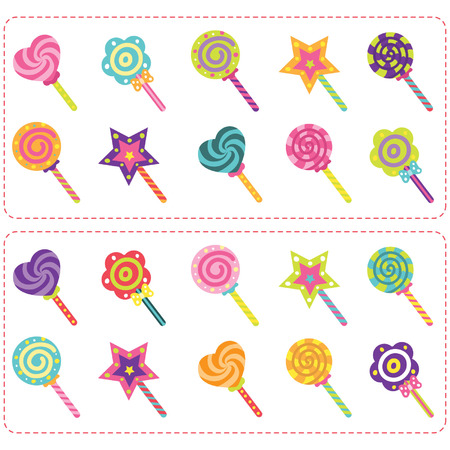piruleta: Dulces Candy y conjunto Lollipop