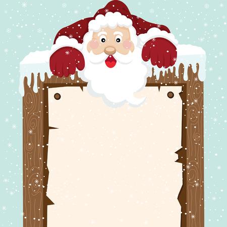 father christmas: Santa Climb on top Sign