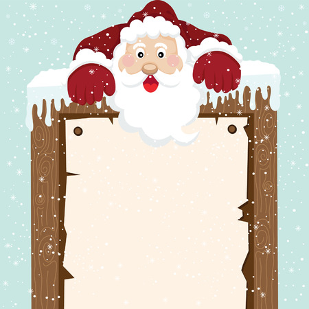 snowdrift: Santa Climb on top Sign