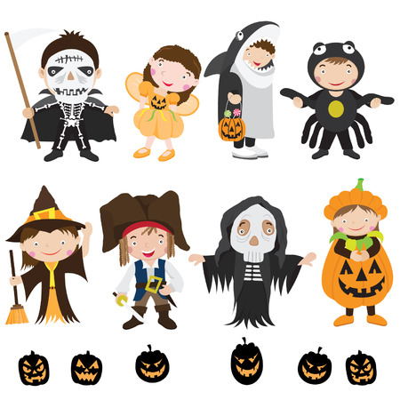 dressing up party: Cute Halloween Characters and Costume