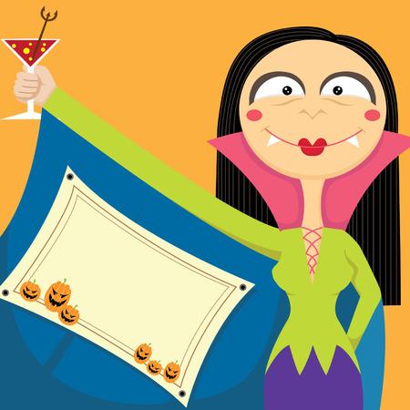 invitaci�n a fiesta: Invitaci�n de la fiesta de Halloween Vectores