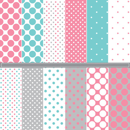 polka: Polka Dot seamless pattern set