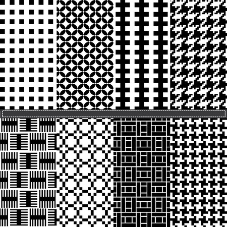 houndstooth: Geometric and Houndstooth seamless pattern set