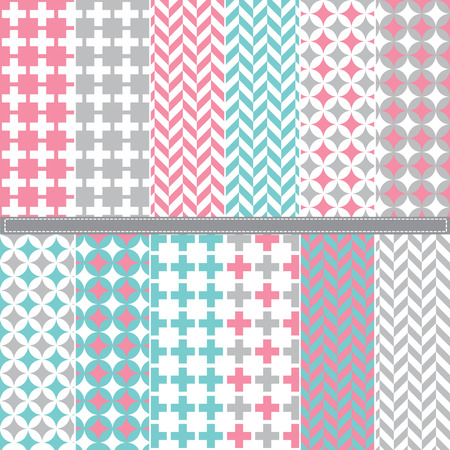 coloured background: Houndstooth seamless set