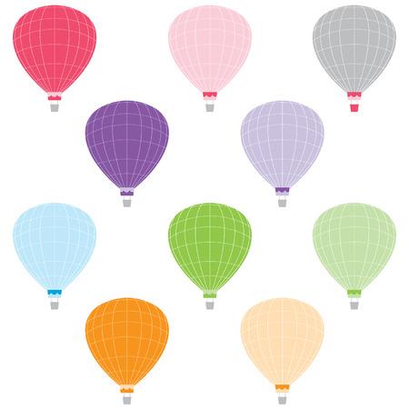 Kleurrijke hete lucht ballonnen Stock Illustratie