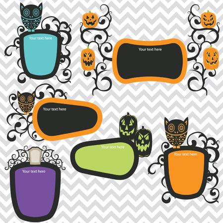 Halloween Frames Invitation Vector