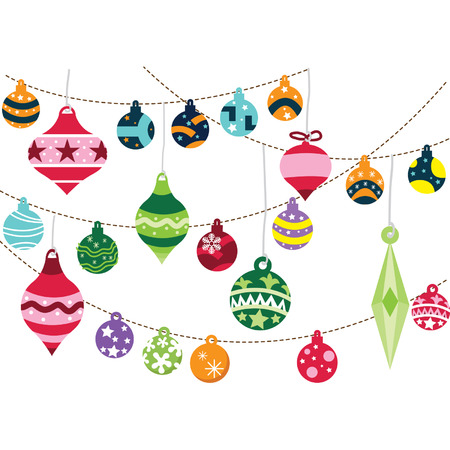 retro christmas: Christmas Ornaments