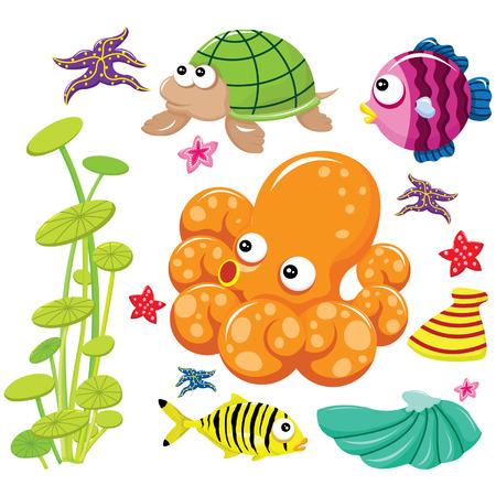 water weed: Cute Sea Life